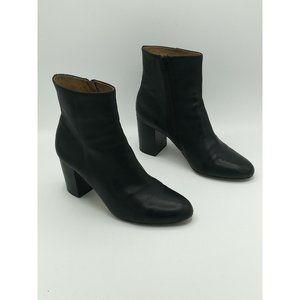 Corso Como Perfecto Black Leather Ankle Booties